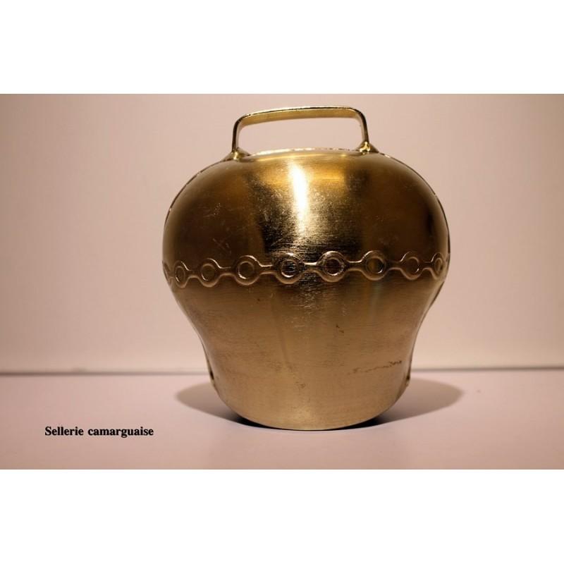 cloche acier bombé, couleur bronze