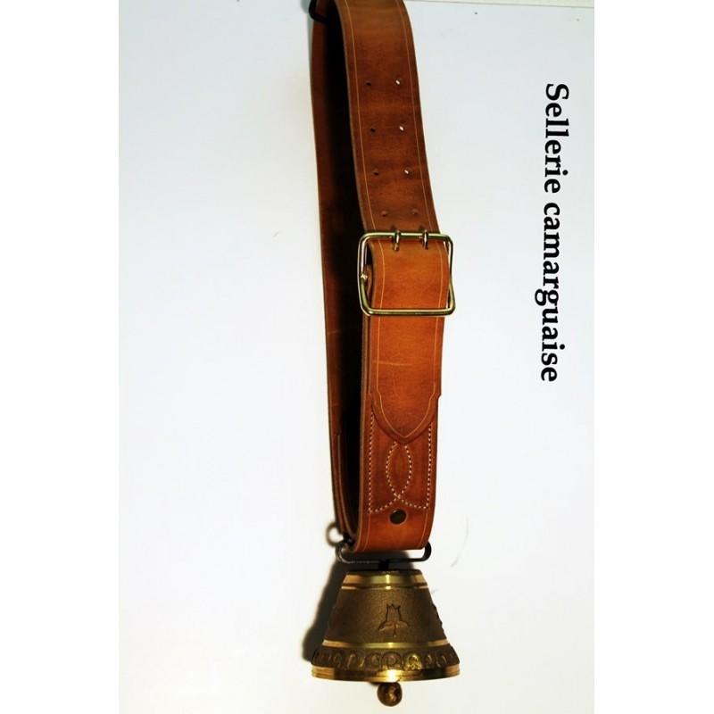 Collier cuir, largeur 60