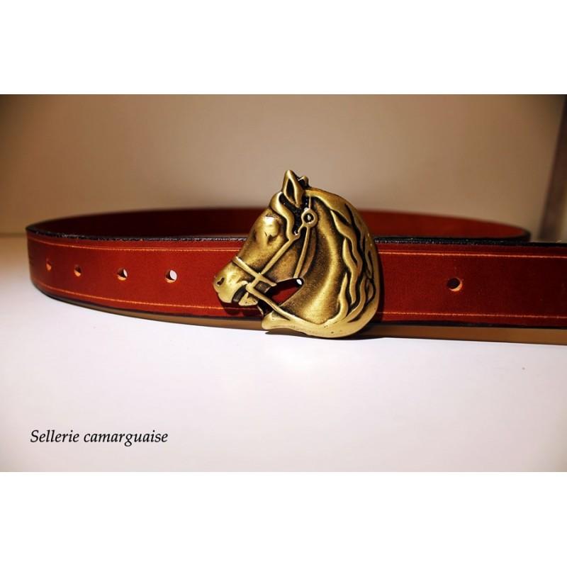 Ceinture cuir, Tête de cheval